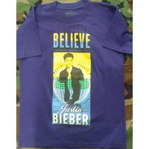 Playera Justin Bieber Concierto 100% Nueva Doble Estampado