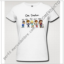 Playera One Direction Caricatura Playera 1d Caricatura Cffy