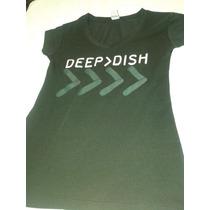 Playera Deep Dish Concierto 100% Nueva Doble Estampado Mujer