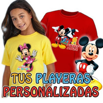 Playeras Mickey Mouse Mimi Minnie Super Dsctos Al Mayoreo