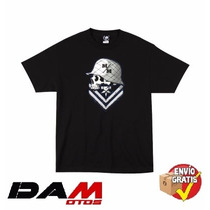 Playera Metal Mulisha Embroidered T-shirt Large Black