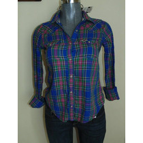 Blusas Hollister Co. T-s Shirts Plaid Nueva Original
