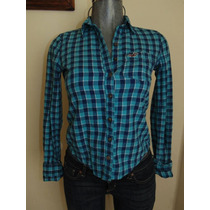 Blusas Hollister Co. Camisa Flannel Plaid Xs Orig. Nueva