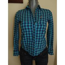 Blusas Hollister Co. Camisa Flannel Plaid Xs Orig. Nueva