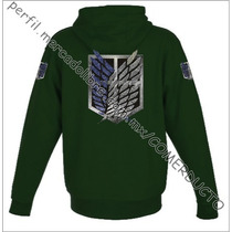 Sudadera Attack On Titan Shingeki No Kyojin Verde Ulyq