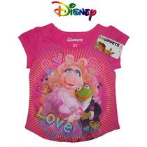 Playera Nina 6 Anos Muppets Piggy Disney Rosa Blusa Blusit