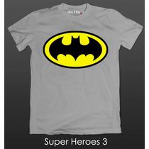 Playeras Super Heroes Batman Superman Flash Capitan America