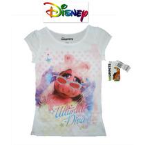Playera Nina 6 Ano Muppets Piggy Disney Blanca Blusa Blusita