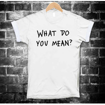 Justin Bieber Playeras What Do You Mean Camisetas Hombre