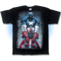 Playera, Capitan America, Cementerio, Comic, Aerografo