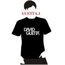 Playera Dj David Guetta, Hombre Niño Dama Promocion 4 X 5
