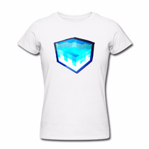 Playera Luminosa Audioritmica Electronica Damas Cubo Azul