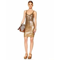 Vestido Michael Kors Xs Color Bronce Nuevo Con Collar,juicy