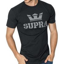 Playera Supra 100% Algodón Negra, Nike Dc Vans