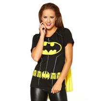 Playera Batman Dama Batgirl Con Capa Dc Comcs Original