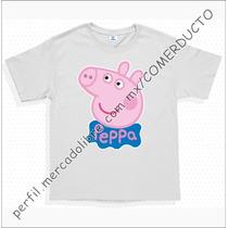 Playeras Pepa La Cerdita Playeras Peppa Pig Fiesta Blancas