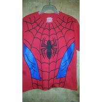 Playera Hombre Araña (spiderman) Niño Marvel Original Import