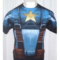 Playera Marvel Comics Capitán América 1er Avenger!! Daa