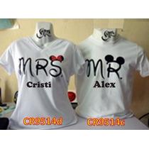 Playeras Pareja Mickey Amor Personalizadas) Cr9514