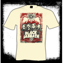 Black Sabbath - Rostros Camiseta Color Arena Rock Metal Ozzy