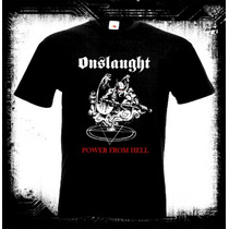 Onslaught - Power From Hell Camiseta Thrash Speed Metal