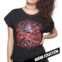 Blusa Harley Quiin Diamond - King Monster Algodon Peinado