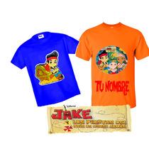 Playeras Jake Y Los Piratas Personalizadas Estampadas Calida