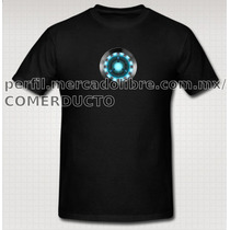 Playera Iron Man Tony Stark Reactor Arc
