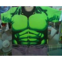 Playera Hulk Cosplay Aerografia