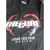 Playera The Cure Concierto Negra 100% Nueva Doble Estampado