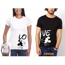 Playeras Amor Pareja Mickey Personalizadas) Cr9509