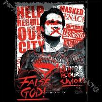 Playera Del Falso Dios Superman Amenaza Alienigena Hailbatsi