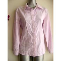 Blusa De Vestir Rosa Manga Larga Delgada Elastico Boggs 11mx