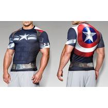 Nuevo! Capitan America 2015 Ua Alter Ego Compression Hombre