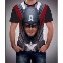 Playera Super Heroes Capitan America