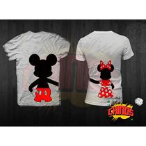 Playeras Para Novios, Mickey, Dia Del Amor, San Valentin, 14