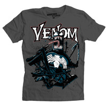 Playera Marvel Venom De Mascara De Latex