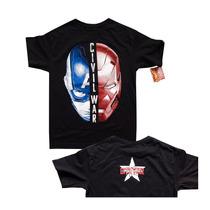 Playera Civil War Team Capitan America Iron Man Marvel Casco
