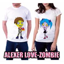 Playeras Pareja Amor Zombie Para Novios Perzonalizadas¡¡¡