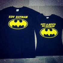 Playeras Parejas Conjunto Novios Batman Super Heroes