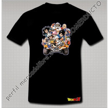 Playera Dragon Ball Personajes En Carro Kshe