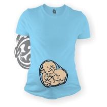 Blusa Playera Maternidad Gemelos Embarazada Bebes Gecko