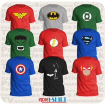 Playeras Comics Batman Superman Ironman Spiderman X-men