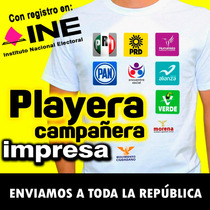 Playera Impresa, Campañas Políticas, Urgentes