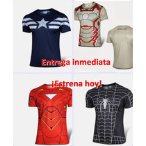 Playeras Deportivas Super Heroes Gym