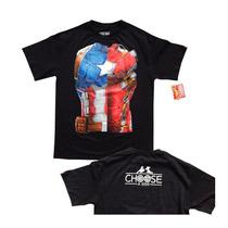 Playera Civil War Capitan America Iron Man Marvel Armadura