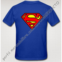 Playera Super Man Azul Clasico