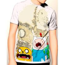 Camiseta Hora De La Aventura Personajes,finn,jake,rey Helado