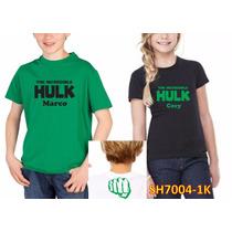 Playera Niño Y Niña Hulk Personalizada Sh7004-1k