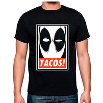 Playera Deadpool Tacos Marvel Tipo Obey Catalogo Mayoreo